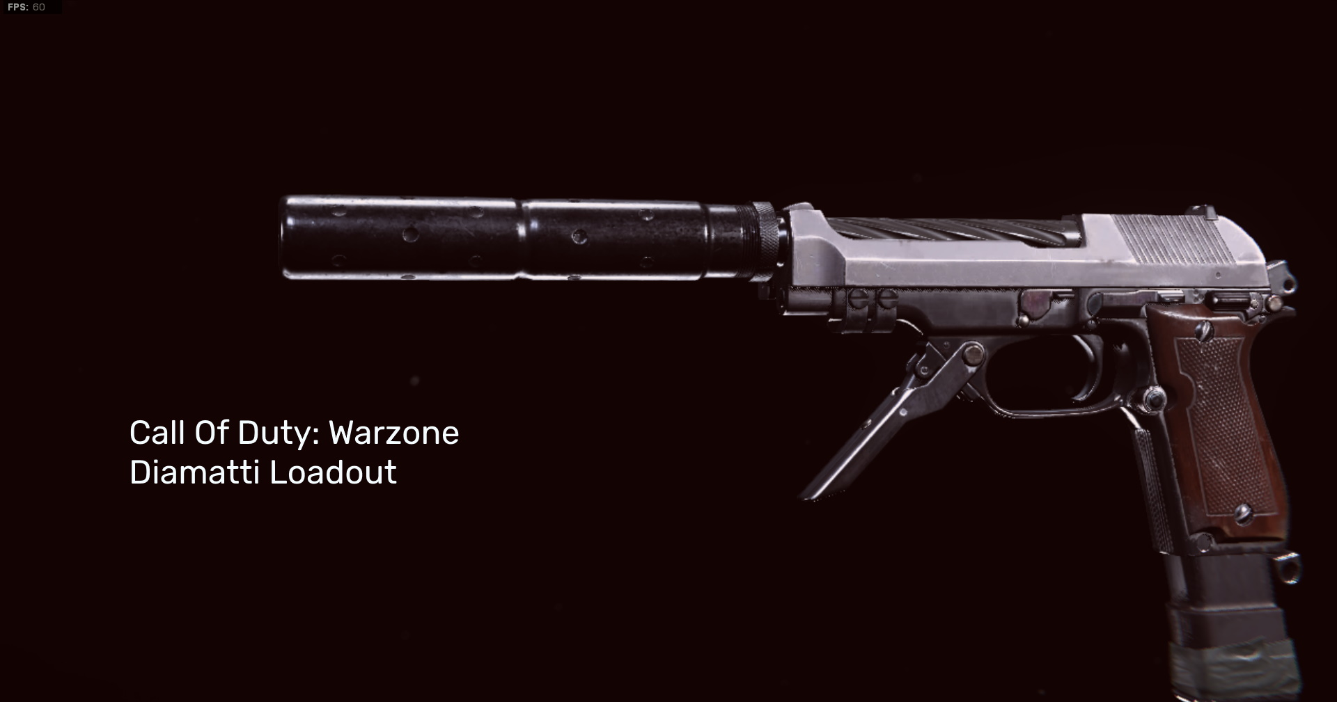 The Diamatti from COD: Warzone on a black background.