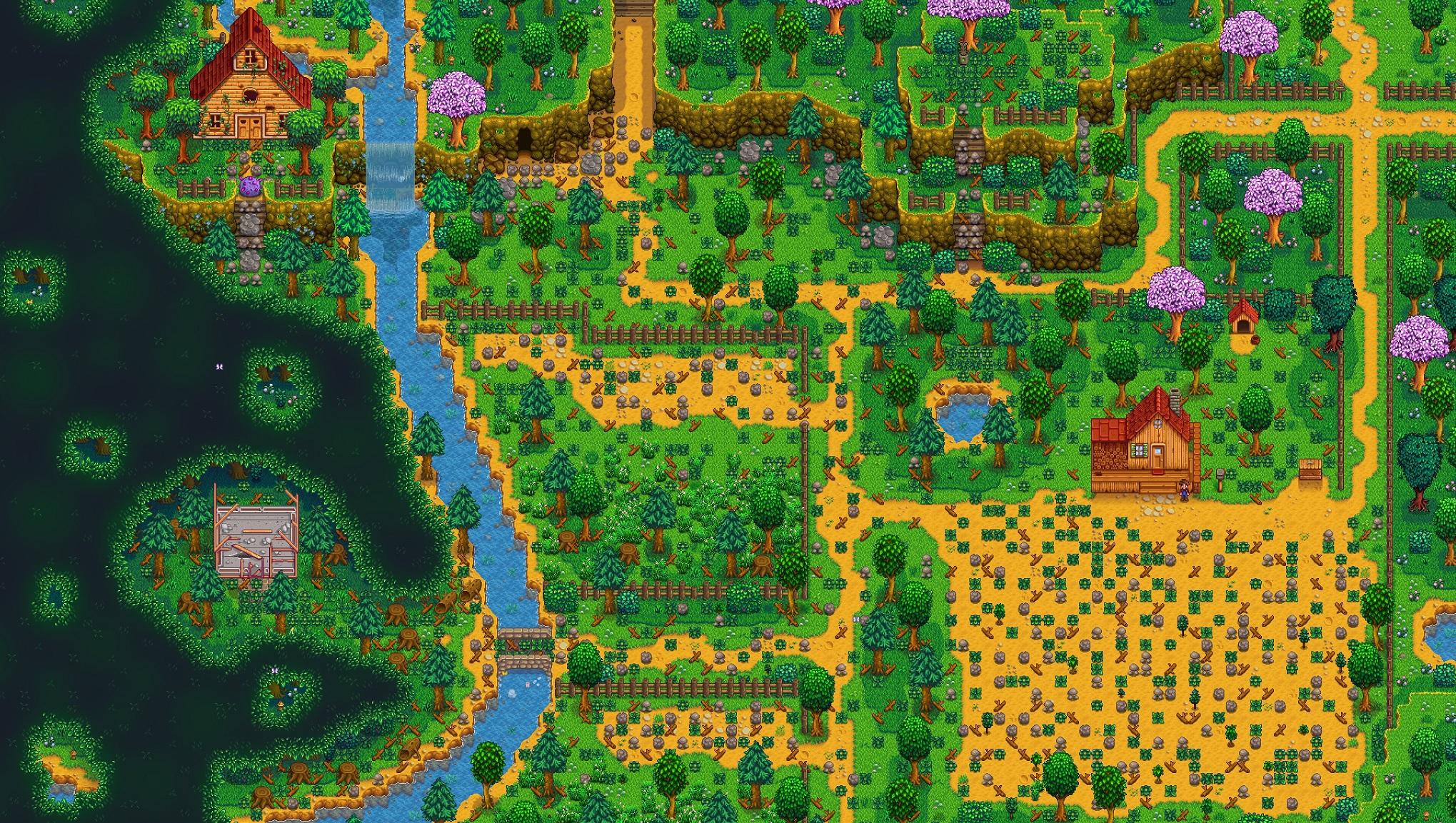 Stardew Valley Expanded mod Grandpa's Farm