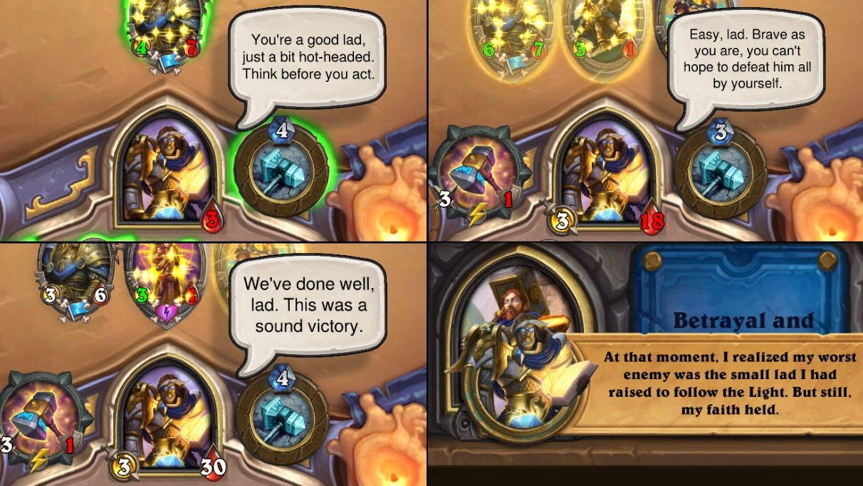 Some examples of Uther talking about lads, from the new adventure.