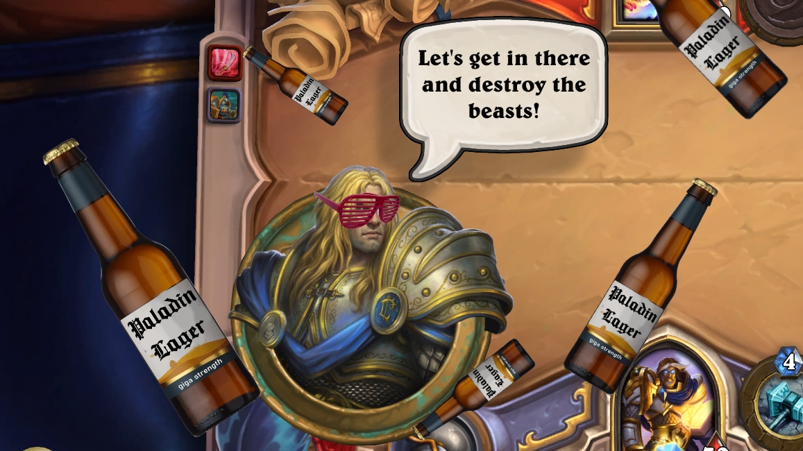 """Arthas, the paladin who would become the Lich King, giving it the big ones and shouting """"Let's get in there and destroy the beasts!"""" as lager bottles tumble past him."""