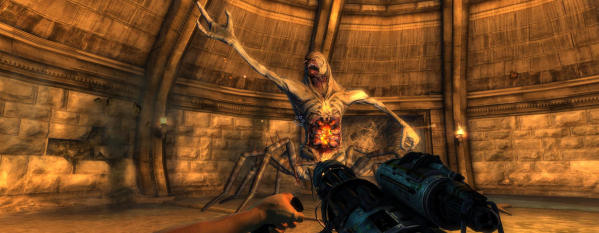 Zeno Clash meets Doom 3?