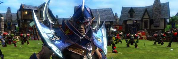Typical Dark Elf. Posing facing the camera when there's an entire team of orcs behind him, waiting to smash his face in.