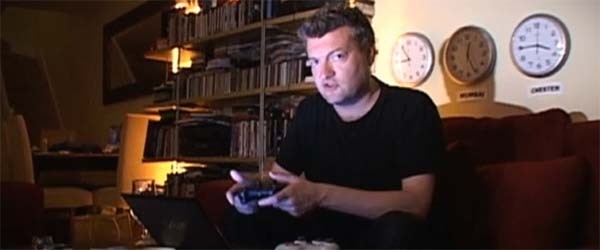 I guess this is a gamer's natural state, except Brooker has trousers on