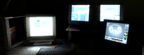 Alec probably has this many monitors. Show off.