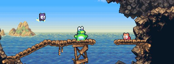 Tubby frog, tubby frog, his body weight causes him to be mocked (In song).