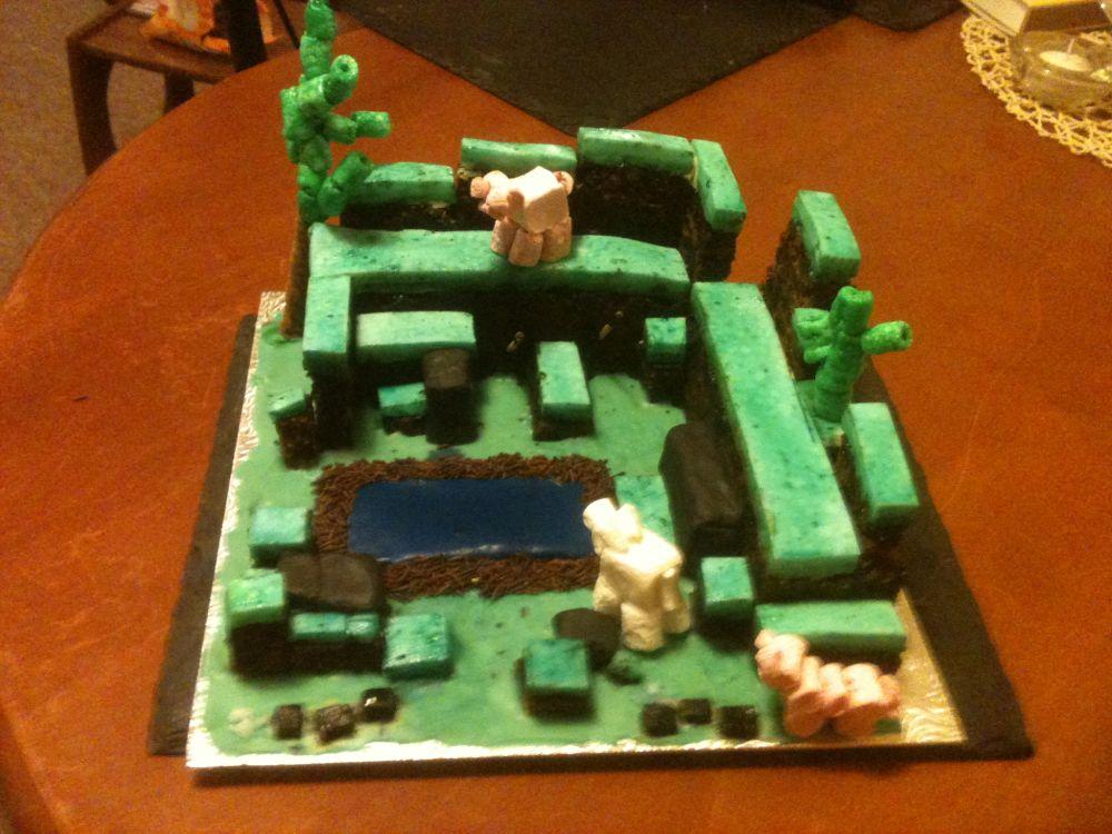 SelfIndulgent Birthday Minecraft Cake Post Rock Paper Shotgun