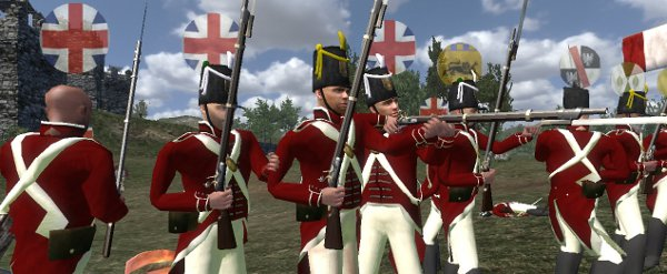 These are redcoats, so called due to the fact they all share the surname 'redcoat'.