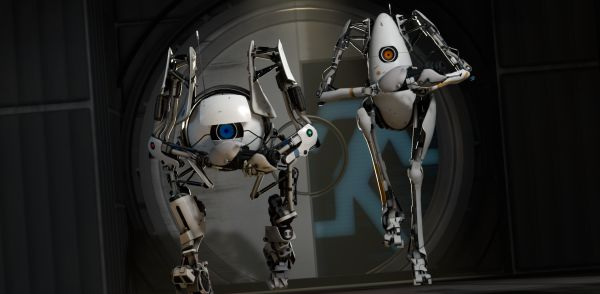 portal 2 robots hugging. of Portal 2 tickles.