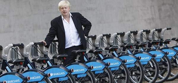 Boris Johnson, presenting expensive demos of an easily-obtained item. Just buy a bloody bike, lazies.