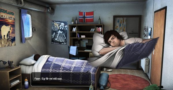 I'm reliably informed this is some Norwegian swearing about getting out of bed.
