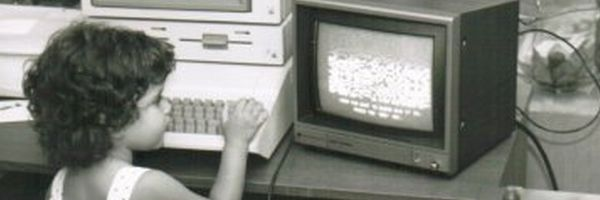 Young Leigh herself, and an Apple IIe