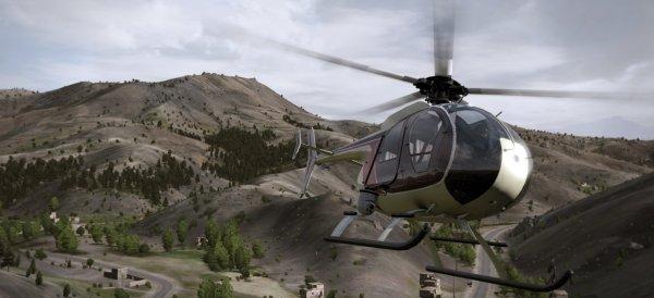 A light chopper, yesterday.