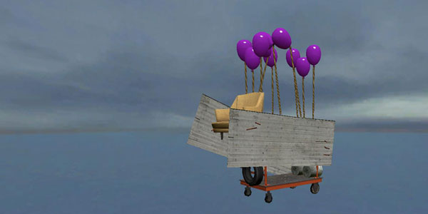 The pirates were tied to balloons and released into the atmosphere
