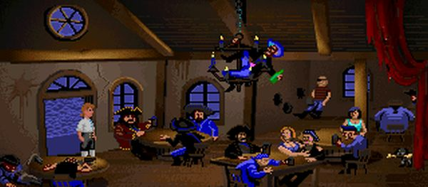This is a picture of Monkey Island in a browser.