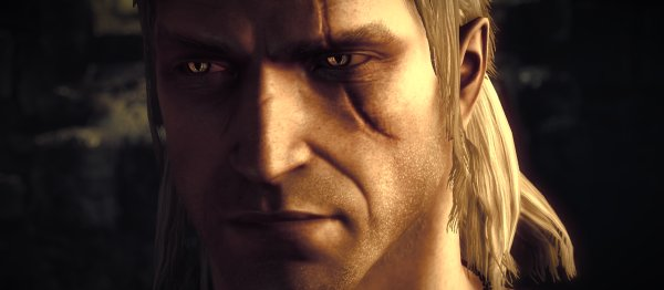 Grumpy Geralt wants his DLC, and he wants it now.