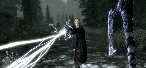 how to get lightning storm in skyrim