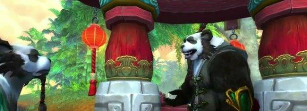 Pandamen having a chat.