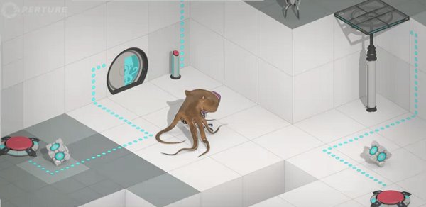 portal 2 map creator trailer is wonderful has squids rock paper