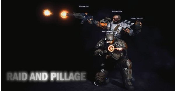 The third new character skin, giant letters that spell out 'raid and pillage,' was sadly removed from the final patch.