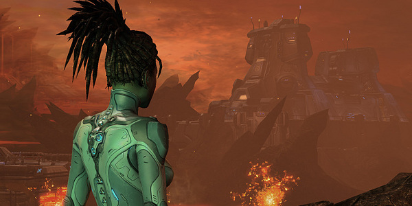I can only assume this screenshot was taken when Kerrigan's pathfinding went wonky and she walked right into lava.