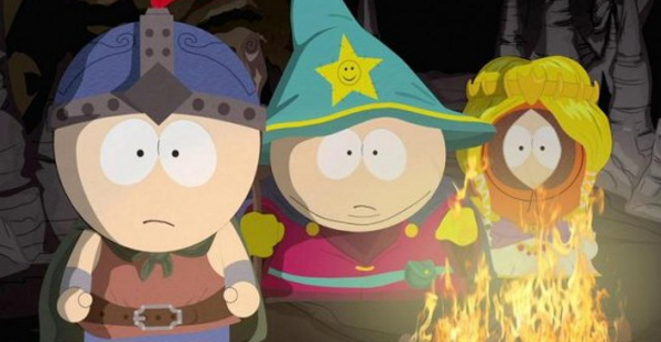 Even the smiley face on Cartman's hat is staring at you.