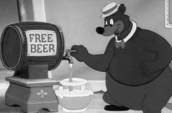 Where does free beer bear originate from? Anyone?