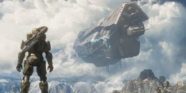 That's not a ship. It's a giant future sky PC. Master Chief just blows them up for fun. Because he's a monster.