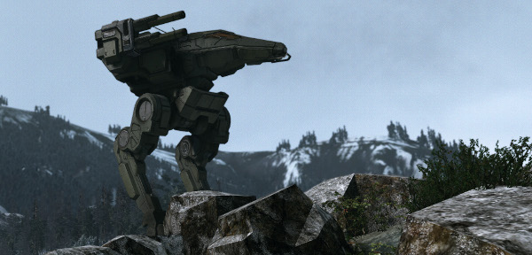 This mech isn't in single-player, but it is single. And desperately, obnoxiously lonely. Ladies?