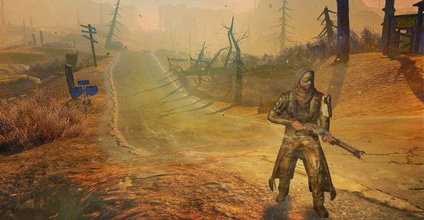 I walk a lonely road / The only one that I have ever not gotten radiation poisoning on