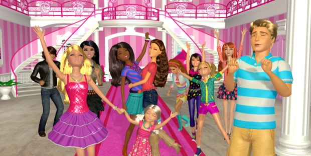 barbie dream house games