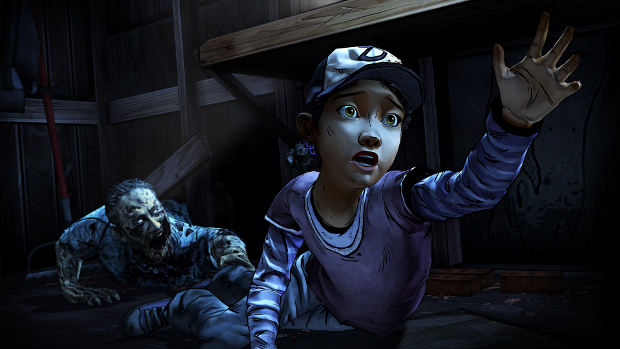 No, Clem! You have to be *facing* the zombie in order to Force Choke it!