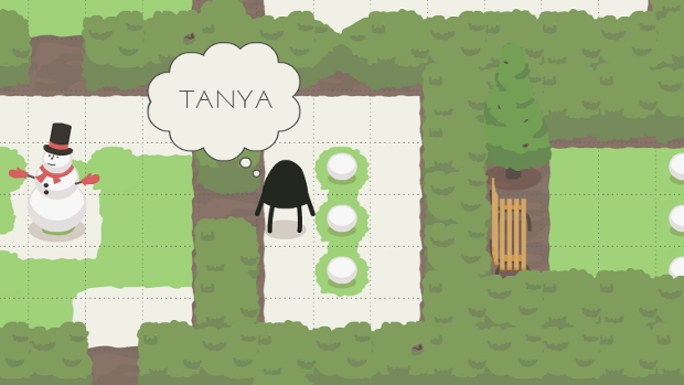 Yes, that bench will be called Tanya. I have no idea what to name the snowperson. I'm total rubbish at names.