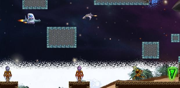 Shmup glitches into ninja platformer