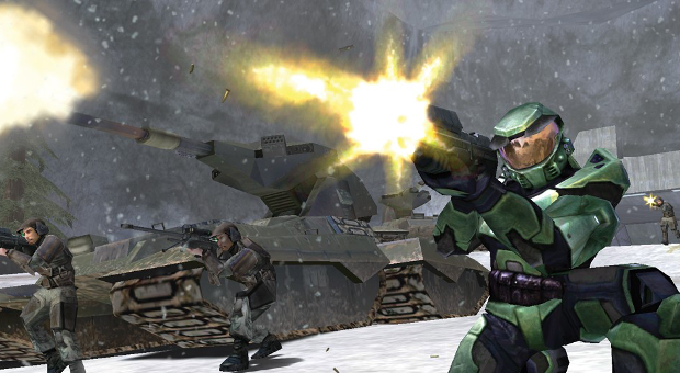 The tank won the shooting competition against Master Chief, but only just