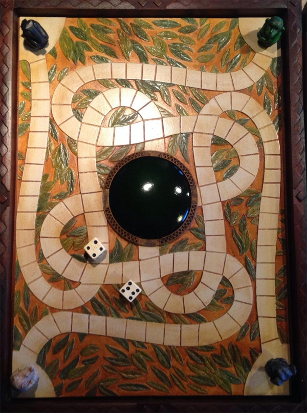 middle of the board forms Jumanji Board Game