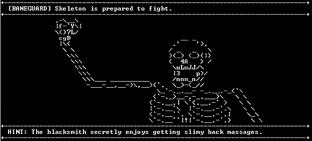 It's either an undead smile or the ASCII art.