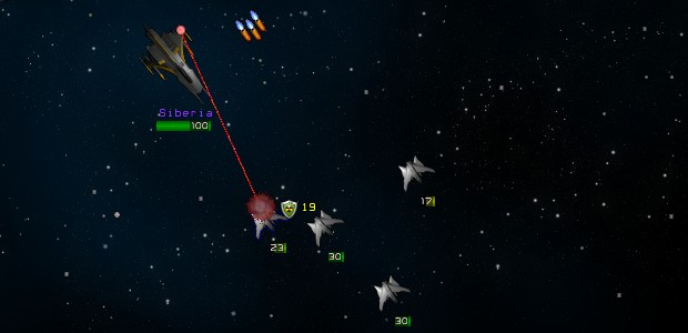 Starry-eyed pilots killing each other in outer space in traditional turn-based battles.