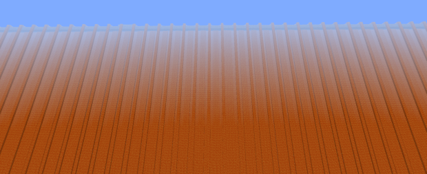 This is my most artistic screenshot of Minecraft. I call it: Big Orange Wall.