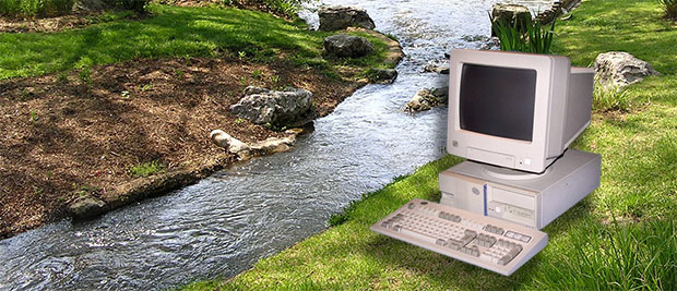A computer and a stream, yesterday