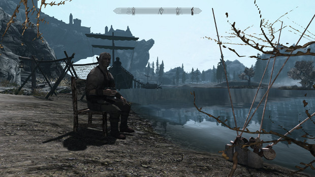 Fishing in Skyrim.