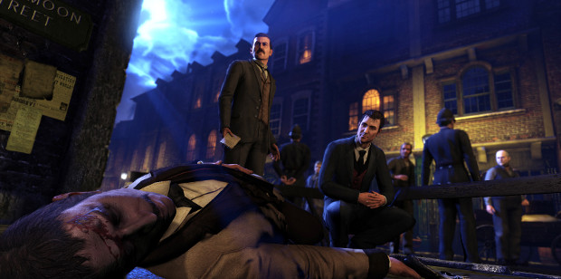 Sherlock Holmes is actually the one lying dead in this screenshot. What wizardry!