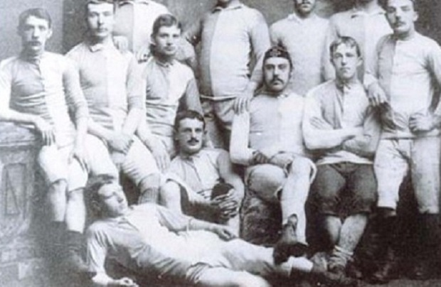 A football team, yesterday
