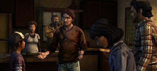 That's Clem looking at Nathan Drake