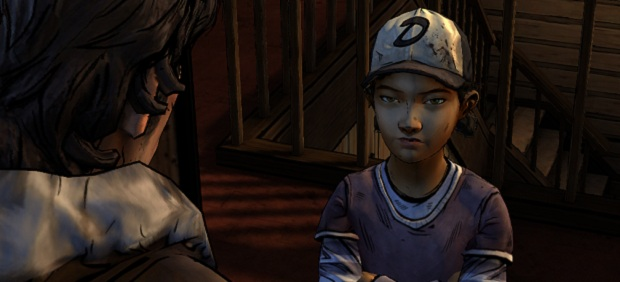 Ah. That's better. This is the picture of Clem looking at a man with a moustache that you saw above. This time the angle makes it more obvious that Clem is the one who is doing the looking rather than the one being looked at.