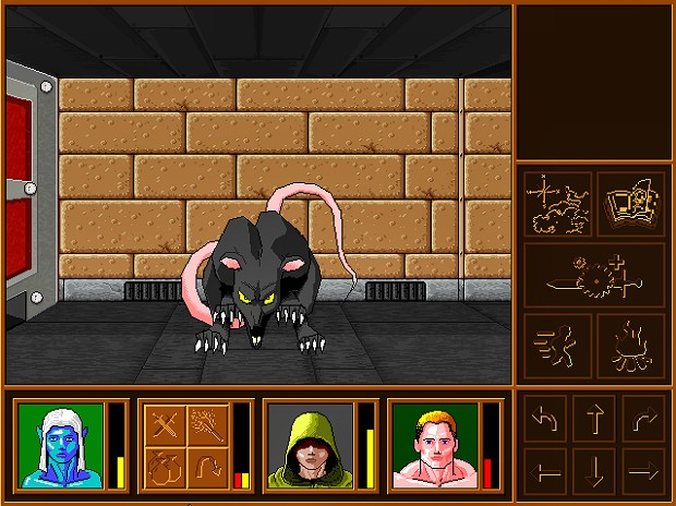 A common or garden rat. In a dungeon.