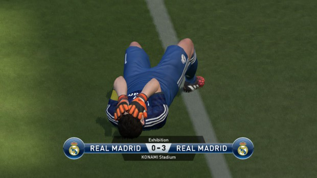 No, of course his lava boots don't give him cool special flame powers. That'd be too creative for PES 2015.