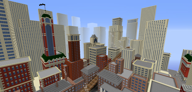 New York, if Minecraft had existed in the early twentieth century