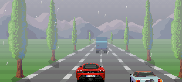 High Action Road Racing Adventure! (Outrun's convincing marketing blurb)