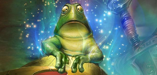 Imagine this frog is Alex Trebek