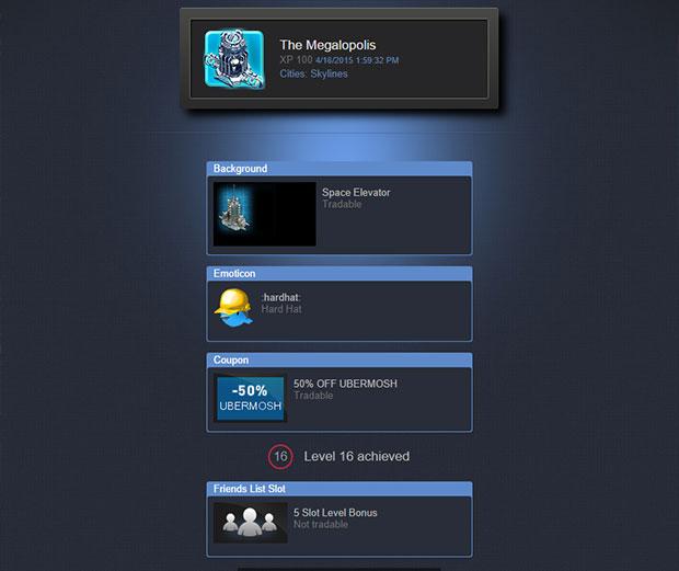 steam friends list slot 5 slot level bonus